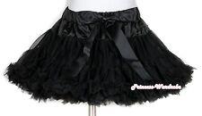 Black Teen Elegant Pettiskirt Pageant Dance Tutu 8-10Y
