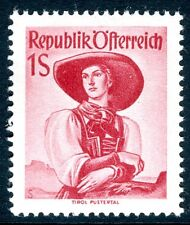 AUSTRIA-1948 Provincial Costumes 1/- Red Sg 1126 UNMOUNTED MINT V18147