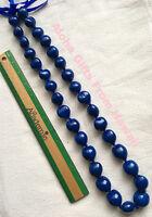 "Hawaiian Real Kukui Nut Necklace Colored Blue 32"" Leis  Hawaii Hula Graduation N"
