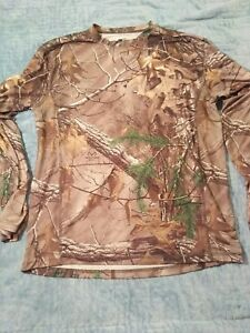 Old Mill Camouflage Top Realtree Medium poly spandex mesh ventilated unisex camo
