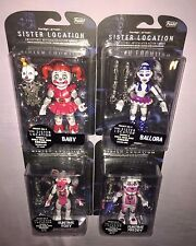 """4x Five Nights At Freddy's Sister Location 5"""" Action Figures **NEW**"""