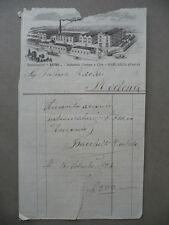 Fattura Stabilimenti Astro Industria Gomme Cere Garlasco Pavia Settembre 1923