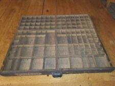 1 Tiroir,casier d'imprimeur vide,imprimerie MEUBLE METIER