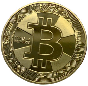 Bitcoin Gold Plated Physical Crypto Coin 2017