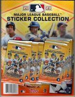 (1) 2020 Topps MLB Baseball Sticker Album Starter Set with (8) Unopened Packs
