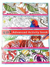 Adult Advanced Activity Book 4 in 1 Color By Number Dot to Dot Coloring #1 Bird
