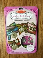 New Melissa and Doug Jewelry Made Easy Charmed Ribbon Bracelets Kit