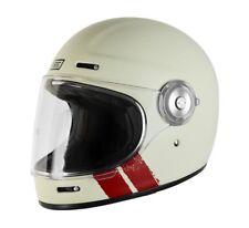 Casco Helmet ORIGINE VEGA STRIPE Bianco Opaco Matt White Vintage Retrò Cafè - XL