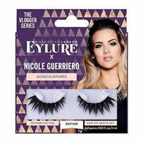 Eylure Nicole Guerriero Lashes #OneFourThree - Eyelashes False Fake Vlogger Long