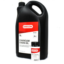 OREGON 5 LITRE CHAINSAW CHAIN BLADE OIL + RED TWO STROKE 50:1 ENGINE ONE SHOT