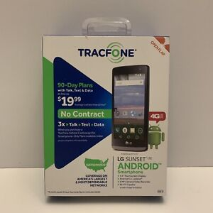 "NEW SEALED LG Sunset Smartphone 4.5""  LGL33L 8GB android 5.0.  4G LTE. Tracfone"