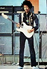 """Jimi Hendrix """"Eyes Closed, Playing His Guitar"""" Poster From Asia-60's Guitar Rock"""