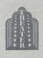 Theater Art deco Style Wood Wall Sign Movie Home Decor