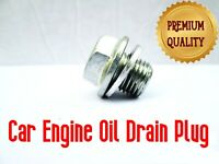 VAUXHALL ENGINE OIL DRAIN SUMP PLUG BOLT WITH WASHER CLIP x1