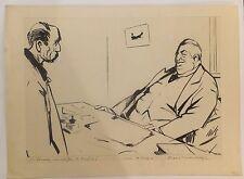 """Dessin de Claude BILS (1884-1968) caricature """"pourriez vous chiffrer les bénéfic"""