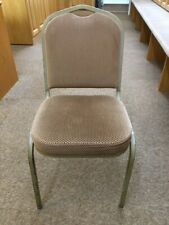 More details for stacking chairs x 25. steel frame with fabric seats and back