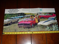 1967 CAMARO CORVETTE GTO OLDS 442 - GM FACTORY MUSCLECARS - VINTAGE POSTER / AD