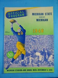 NOVEMBER 9, 1946 MICHIGAN ST. VS MICHIGAN Football Official Program EX+++ NICE