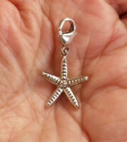 925 Sterling Silver STARFISH CHARM  Lobster Claw Clasp  4.2 grams