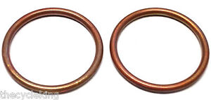 Honda VTX1300 VTX1800 C/F/N/R/S/T pair copper exhaust header/doughnut gaskets x2