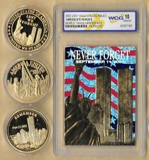 2002 23 Kt Gold World Trade Center 9/11 Patriotic  Gold 3 Coin Lot Grade