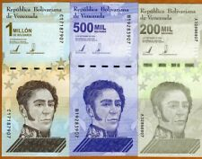 SET Venezuela, 200000-500000-1000000 Bolivares 2020 P-New, UNC