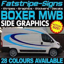 PEUGEOT BOXER L2 MWB Graphics stickers stripes decals Jour Van Camper Camping-car