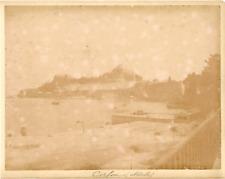 Grèce, Corfou, la citadelle  vintage albumen print. Tirage albuminé  22x28