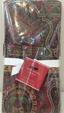 NWT Set of 4 Pottery Barn Red EMIRA PAISLEY Holiday Dinner Napkins