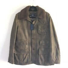 Ralph Lauren coat jacket Lamb Fur Italy NWT Large Womens Shearling Brown Button