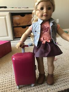 american girl doll 18 inch doll Travel Set With Clothes