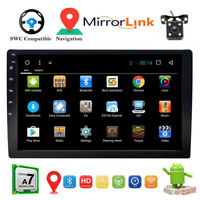 """10.1"""" In-Dash Car GPS MP5 Player Quad Core Android 8.1 2Din Car Stereo Radio+Cam"""