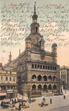 Rarität Foto AK 1905 Posen Rathaus mit Personen und Geschäftsgebäude