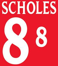 England Scholes 2002 Nameset Shirt Soccer Number Letter Heat Print Football A