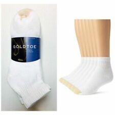 Gold Toe  White Cotton Quarter Athletic Sock 6 pair - Sock Size large