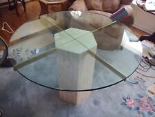 MCM - Ello Travertine Marble Table HEXAGONAL BASE