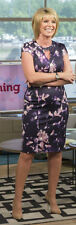 NEW Sz 10 Navy Purple Pink Floral Wiggle Pencil Dress Necklace Detail Celeb