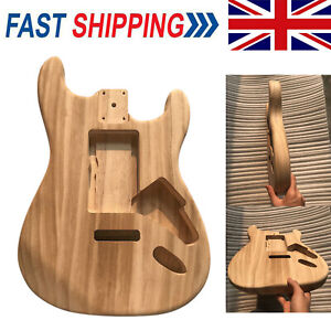 Unfinished Polished Maple Electric Guitar Barrel Body for Strat ST Guitar Part