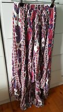 NOUGHTS & CROSSES Hi Low Maxi Skirt size S Boho Hippie Festival Byron Bay B12