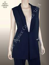 TAHARI Women Pants VEST Suit SIZE 14 NAVY BLUE Two-Piece Dressy NEW$280 LBCUSA