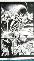 Ed McGUINNESS ~ Avengers vs GOTG Action Page