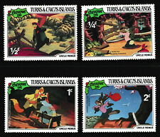 1/4c-2c, TURKS & CAICOS ISLANDS 'Christmas 1981 Uncle Remus' Stamps 4v - MNH