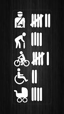 sticker vinyl decal car bike tuning JDM tuning accident list funny macbook white