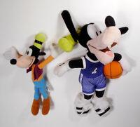 "VTG 12""plush Goofy Basketball plush Jersey #1 w/bonus mini plush DISNEY"