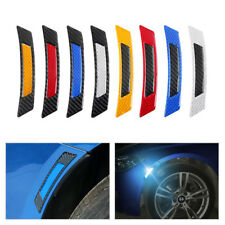 Carbon fiber Wheel Eyebrow Reflector Anti-Rub Bumper Strip Protector Sticker