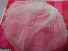 VICTORIA'S SECRET WHITE BRIDAL TULLE SHORT VEIL WITH COMB - ONE SIZE - NWT