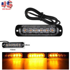 2x 6 LED Car Truck Emergency Hazard Warning Strobe Flash Lights For Grille Deck