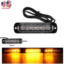 2x 6 LED Car Truck Emergency Hazard Warning Strobe Flash Lights For Grille Deck