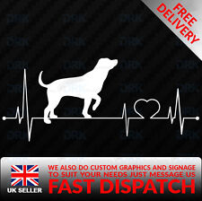 My Heart Beats For Dogs Animals pups CAR BUMPER VW FUNNY VINYL DECAL STICKER