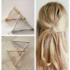 xFresca Women's Hollow Triangle Geometric Metal Hairpin Hair Clip Set Of 2